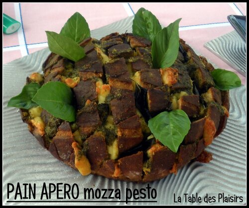 PAIN APÉRO mozza pesto
