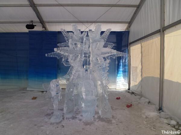 Ottawa sculpture sur glace flocons des fées de neige (1)