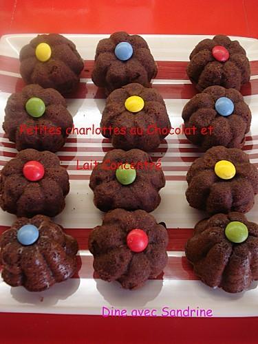 Petites charlottes au Chocolat et Lait concentré 7