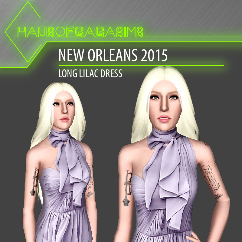 NEW ORLEANS 2015 LONG LILAC DRESS