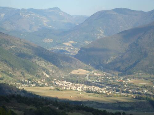 Saillans, vue de Peyplat avril 2012 ;