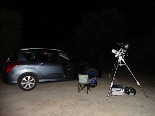 Juillet 2012 : nuit blanche sur la route de Paomia (Corse)