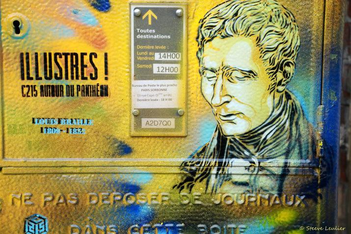 C215 Les illustres autour du Panthéon, Paris, Louis Braille