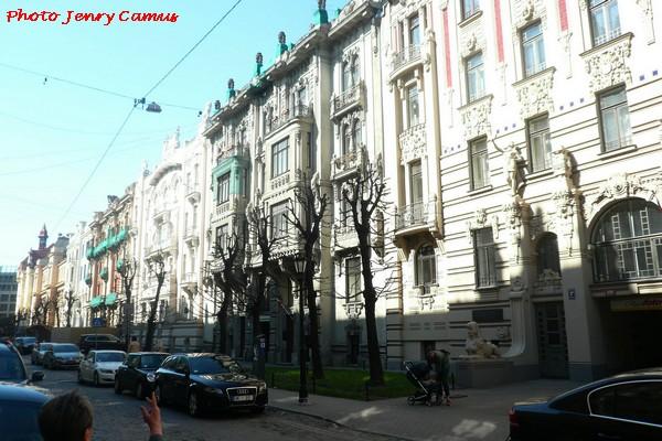 L'Art Nouveau dans la ville de Riga, en Lettonie !