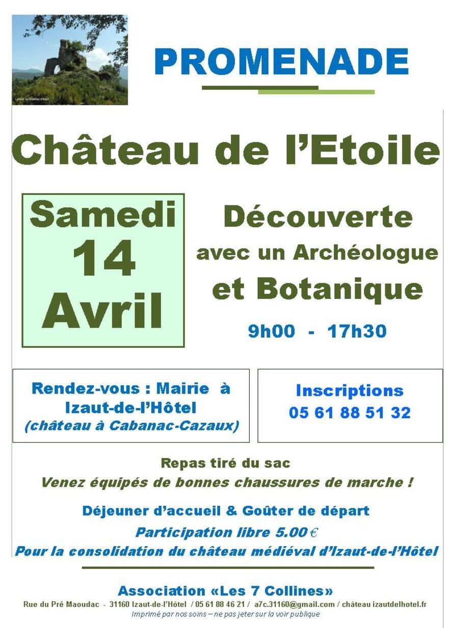 2018 : Promenade découverte au Château de l'Etoile (31160