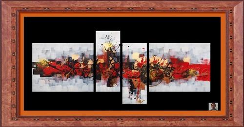 Dessin et peinture - vidéo 2472 : Démonstration de peinture abstraite, réalisée avec brosse, couteau, pinceau et objet circulaire  - peinture acrylique.
