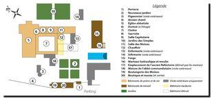 Un clic pour agrandir le plan de l'abbaye