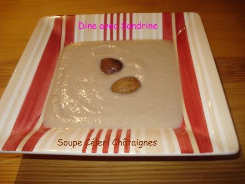 Une Soupe Céleri Châtaignes