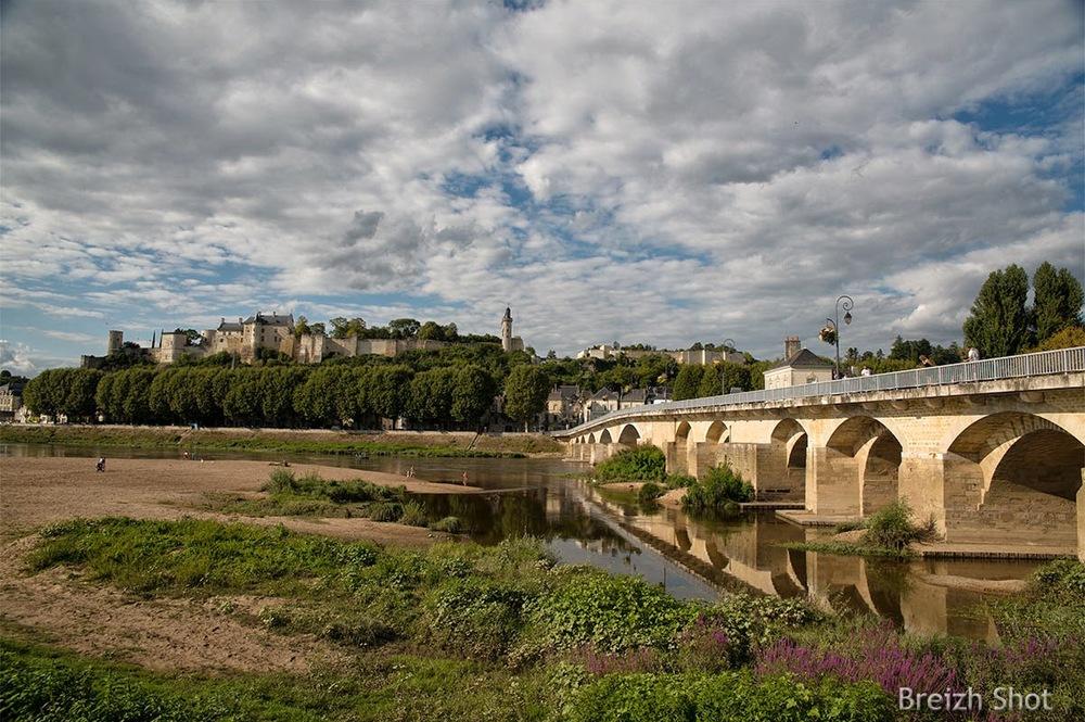 Chinon, la Vienne, le pont
