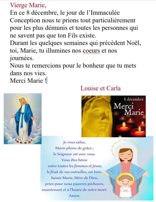 Prière du 8 décembre