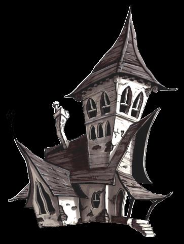 Tubes halloween maisons