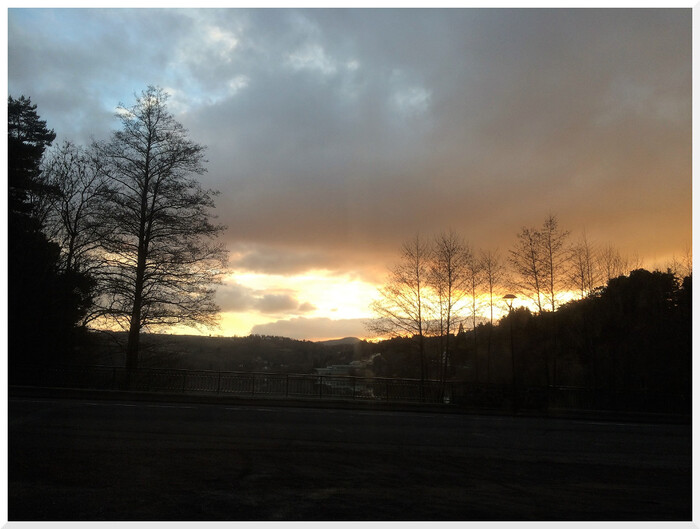 Auvergne. Lac d'Aydat. Fin de journée