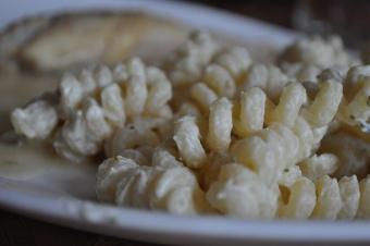 Fusili à la crème de persil