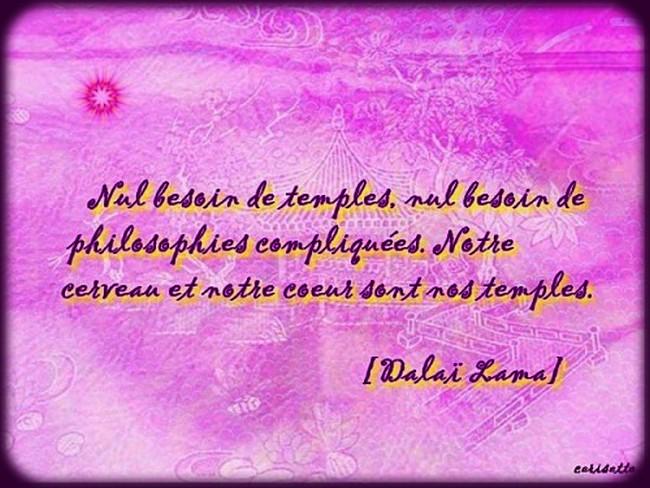 une citation illustrée du dalai lama