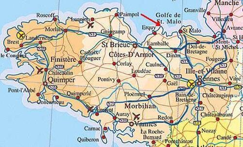 ERQUY dans les Côtes d'Armor