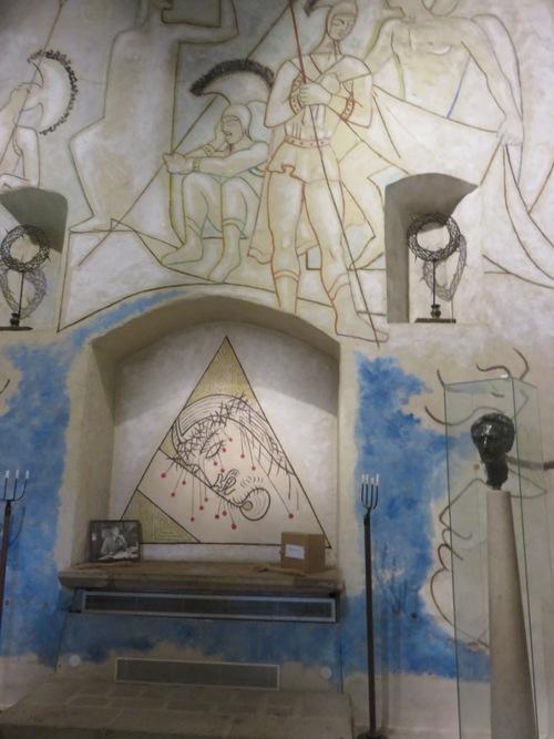 Valérie Keirsschieter à la Chapelle des Simples à Milly-la-Forêt