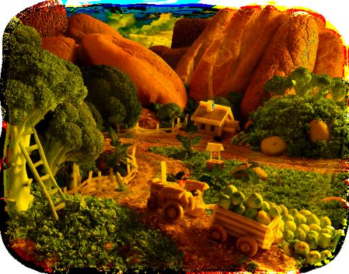 paysage en nourriture