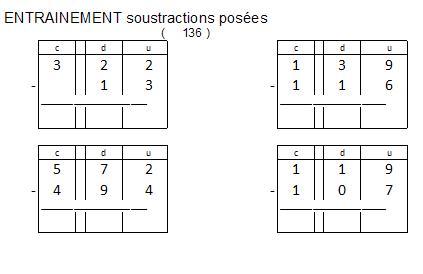 G n rateur de soustractions pos es pour ce1 et ce2 jakadi - Soustraction ce2 ...