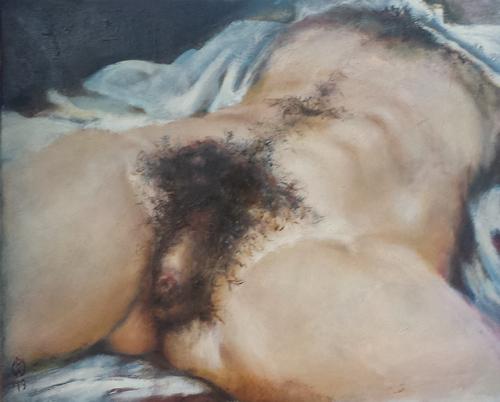 Pendant masculin de l'origine du monde de Courbet.