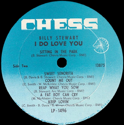 "Billy Stewart : Album "" I Do Love You "" Chess Records LPS 1496 [ US ]"