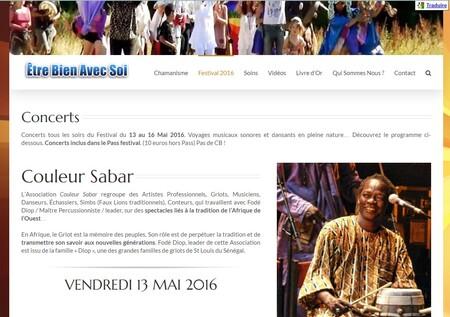 """Concert & Animations Musicales avec Couleur Sabar au Festival """"Etre Bien Avec Soi"""" [13 Mai 2016]"""