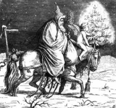 Saint Nicolas sur son cheval NB