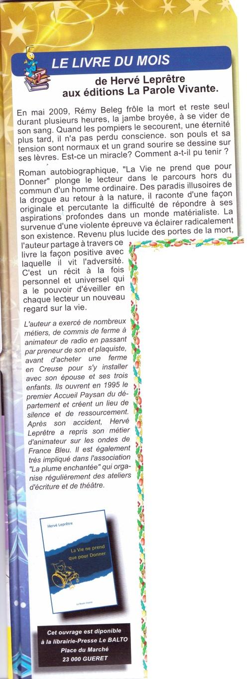 """Article paru dans le """"Criquet Magazine"""""""