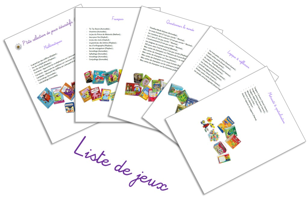 Sélection de jeux éducatifs pour l'école élémentaire