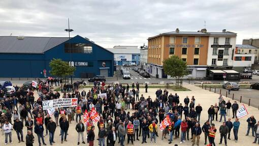 Brest. 450 ouvriers des chantiers du port de commerce manifestent contre l'amiante (OF.fr-6/09/19-15h38)
