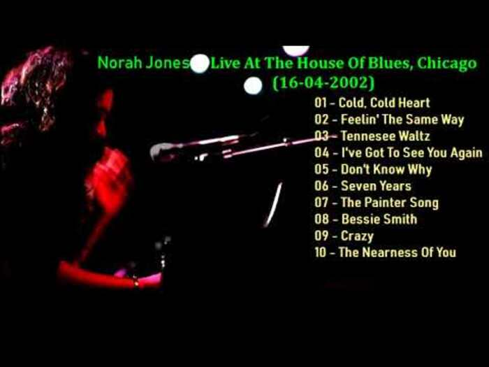 """Norah Jones : CD """" Live At The House Of Blues , Chicago April 16, 2002 & New Orleans August 24, 2002 """" Soul Bag Records DP 114 [ FR ]"""