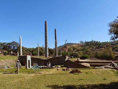les stèles de la nécropole d'Axoum