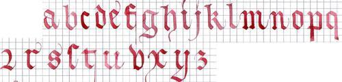 Avec la gothique textura quadrata