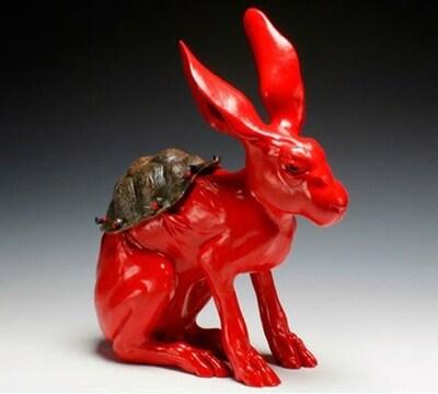10 - Encore des lapins en céramique