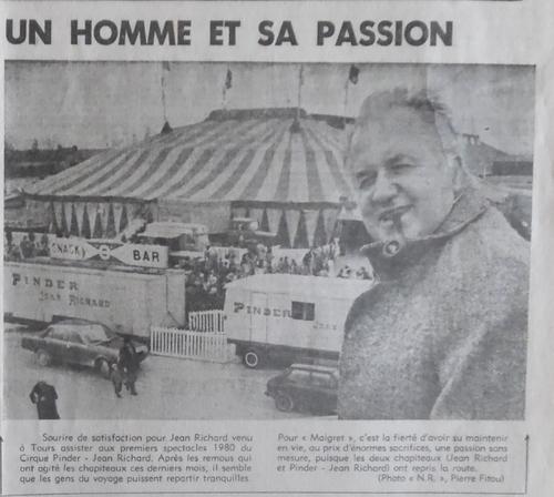 article paru le 05/02/1980 dans la Nouvelle République ( archives Vincent Bouderlique)