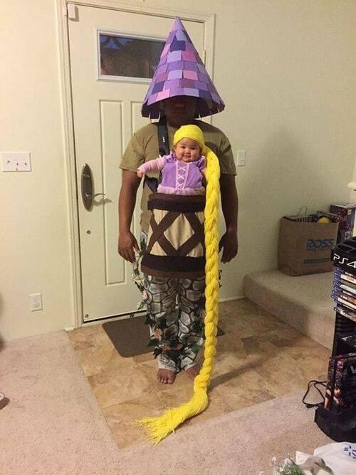 Au Carnaval : Des bébés bien accrochés et déguisés !