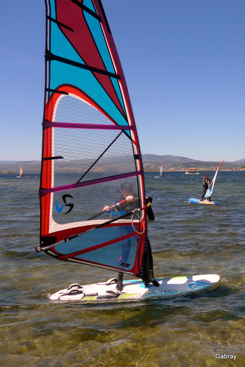 Le Barcarès: activités sportives sur l'étang