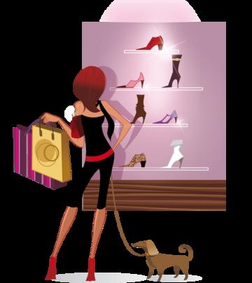 Render Filles/Femmes - Renders femme shopping chaussures