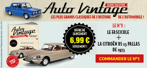 N° 1 Auto vintage deluxe collection - Lancement