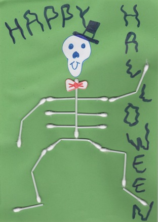 A skeleton for Halloween