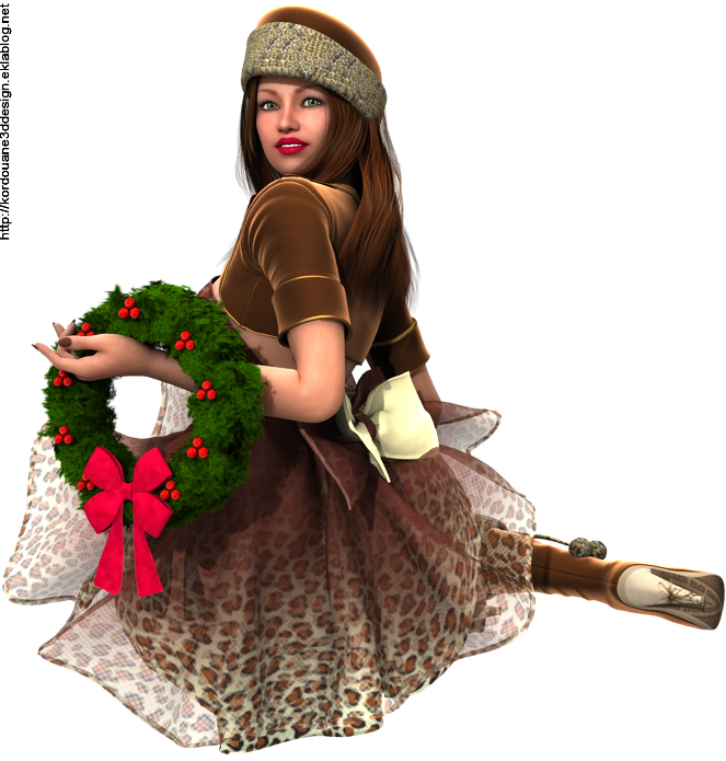 Image de femme mère Noël + décoration