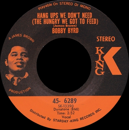 Bobby Byrd : Single SP King Records 45-6289 [ US ]
