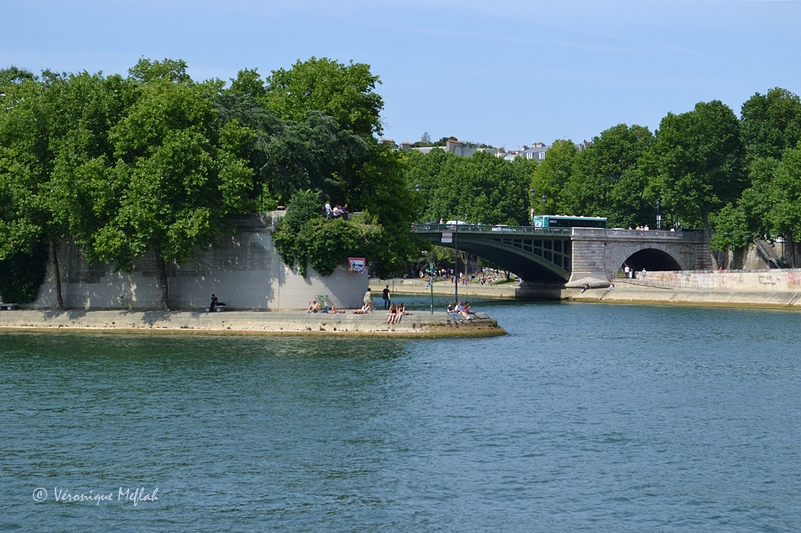 L'île saint-Louis : Le square Barye - Paris 4e