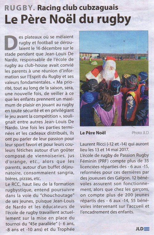 Article Haute Gironde du 23/12/2016