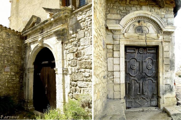 Quelques portes à Simiane la Rotonde