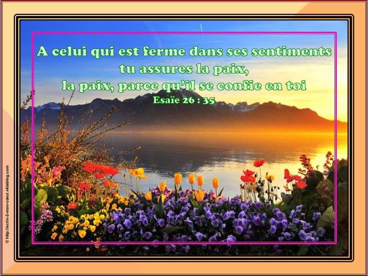 Tu assures la paix - Esaïe 26 : 35