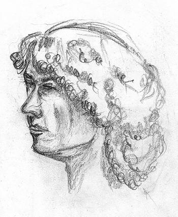 Portrait style statue