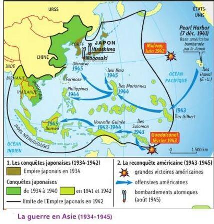 La Seconde Guerre mondiale en Asie / Pacifique