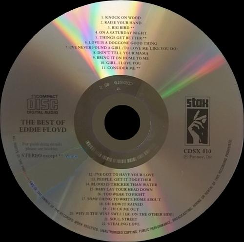 "Eddie Floyd : Album "" The Best Of Eddie Floyd "" Stax Records CDSX 010 [ UK ]"