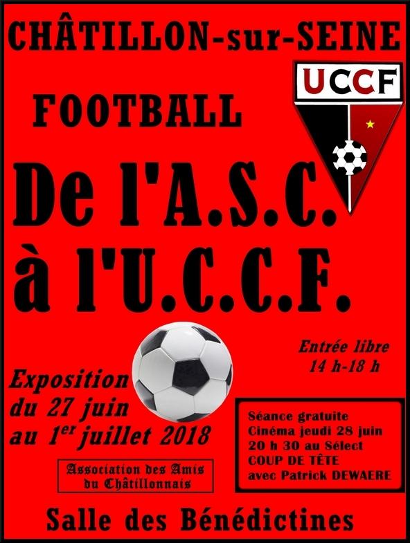 L'exposition sur le foot à Châtillon sur Seineet Sainte Colombe sur Seine, par les Amis du Châtillonnais, a été une grande réussite !
