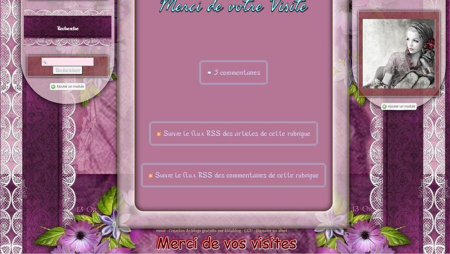 Gerbera violet et dentelle